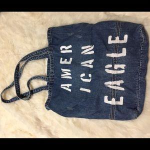 American Eagle Branded Denim Blue Jean Tote BAG